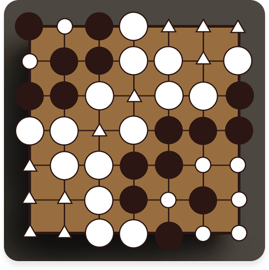 △ marks White's territory (11)<br />